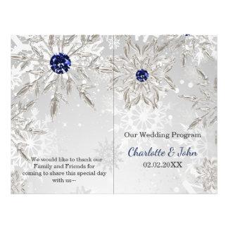 Flyer programa de prata do casamento no inverno dos