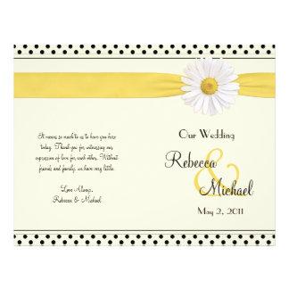 Flyer Programa do casamento das bolinhas da margarida de