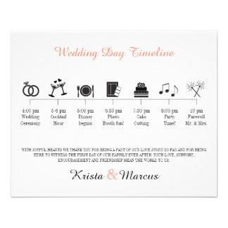 Flyer Programa do espaço temporal do casamento do ícone