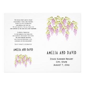 Flyer Programa wedding dobrado floral das glicínias