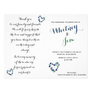 Flyer Programas dobráveis do casamento das bolinhas