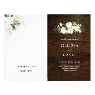 Flyer Programas românticos do casamento da floresta dos