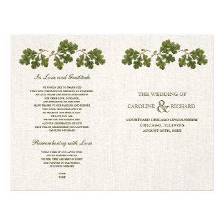 Flyer Programas Wedding dobrados design da folha do