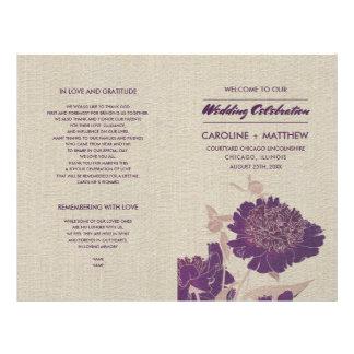 Flyer Programas Wedding dobrados design floral do