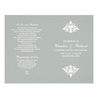 Flyer Programas Wedding dobrados do vintage design