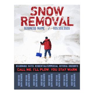 Flyer Remoção de neve. Folha do arado de neve
