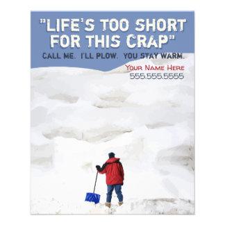 Flyer Remoção de neve. Neve que ara o negócio.