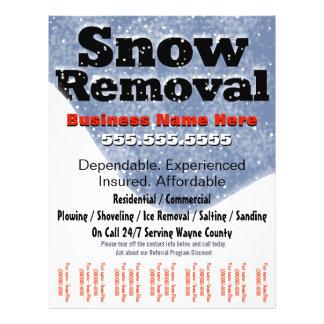 Flyer Remoção de neve que ara o modelo da folha de rasgo