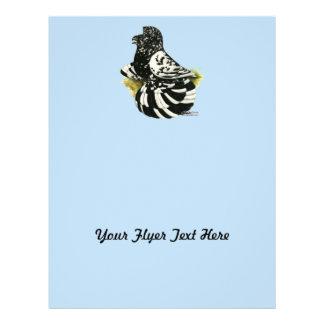 Flyer Respingo escuro do pombo da trompetista