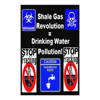 Flyer Revolução do gás do xisto = poluição de água