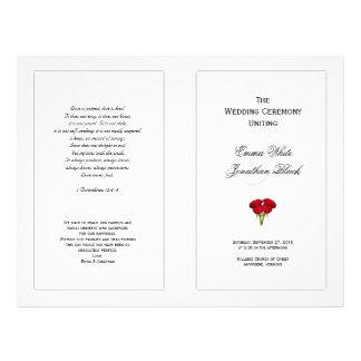 Flyer Rosas vermelhas que Wedding o modelo do programa