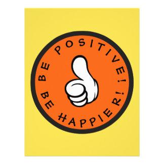 Flyer Seja positivo! Esteja mais feliz!