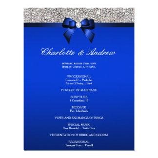 Flyer Sequins da prata do arco dos azuis marinhos que