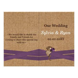 Flyer Serapilheira do FALSO e casamento roxo do país do