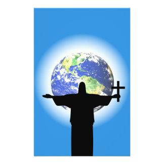 Flyer Silhueta com uma cruz
