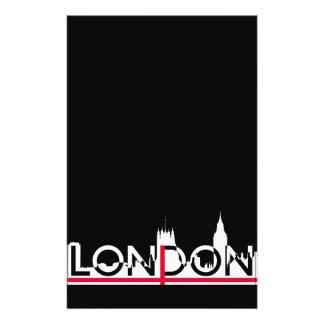 Flyer Silhueta de Londres e bandeira inglesa