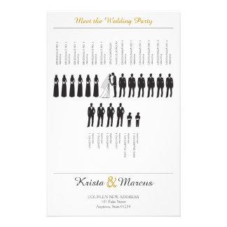 Flyer Silhuetas simples que Wedding o programa
