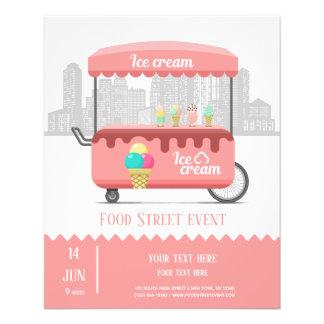 Flyer Sorvete da rua da comida