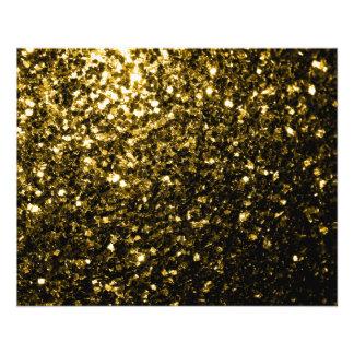 Flyer Sparkles bonitos do ouro amarelo