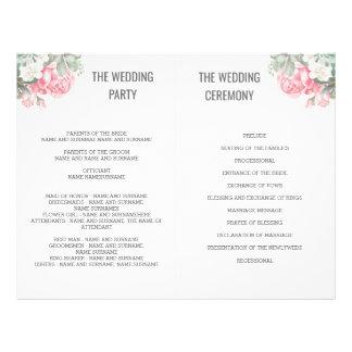 Flyer Succulents florais que Wedding programas do fã