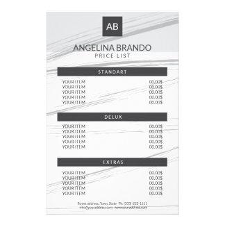 Flyer Tabela de preços cinzenta luxuoso do curso moderno