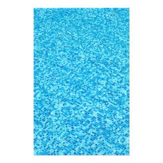 Flyer Teste padrão azul dos azulejos