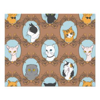 Flyer Teste padrão bonito dos gatos