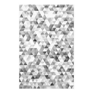 Flyer Teste padrão cinzento do triângulo