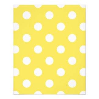 Flyer Teste padrão de bolinhas amarelo
