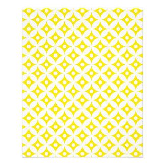 Flyer Teste padrão de bolinhas amarelo e branco moderno