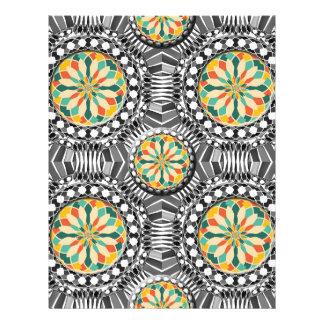 Flyer Teste padrão geométrico chanfrado