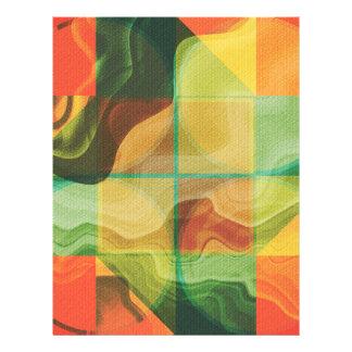 Flyer Trabalhos de arte abstratos
