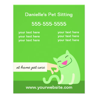 Flyer Verde Insecto-Petting do gato dos cuidados dos
