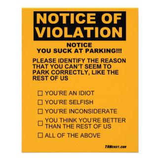 Flyer Você suga no bilhete de estacionamento