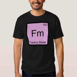 Fm - T modelo do símbolo do elemento da química da Camisetas