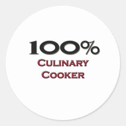 Fogão culinário de 100 por cento adesivo redondo