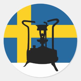 Fogão da pressão da bandeira | da suecia adesivo