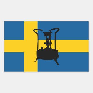 Fogão de bronze sueco da pressão adesivo retangular