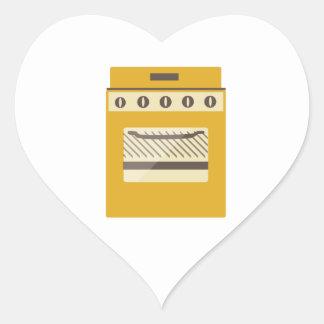 Fogão de cozinha adesivo coração