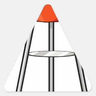 Fogão do assado adesivo triangular