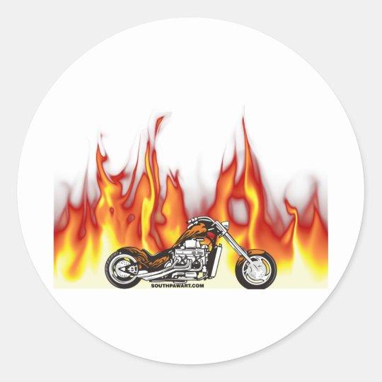 Armario Quarto Casas Bahia ~ Fogo da motocicleta adesivo Zazzle