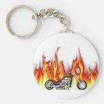 Fogo da motocicleta chaveiro
