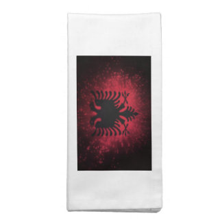 Fogo-de-artifício; Bandeira de Albânia Guardanapos De Pano