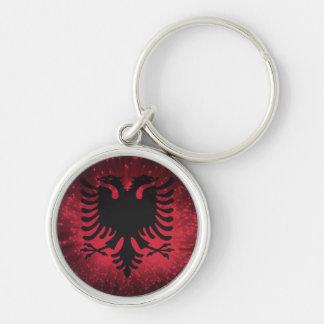Fogo-de-artifício; Bandeira de Albânia Chaveiro