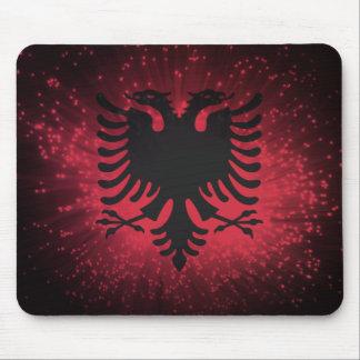Fogo-de-artifício; Bandeira de Albânia Mouse Pad