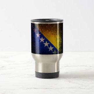 Fogo-de-artifício; Bandeira de Bósnia Canecas