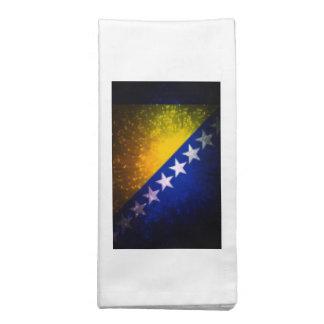 Fogo-de-artifício; Bandeira de Bósnia Guardanapos De Pano