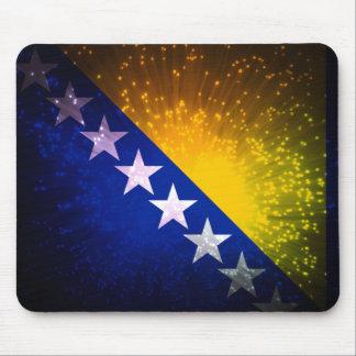 Fogo-de-artifício; Bandeira de Bósnia Mouse Pad