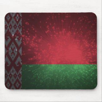 Fogo-de-artifício da bandeira de Belarus Mousepad