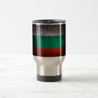 Fogo-de-artifício da bandeira de Bulgária Caneca Térmica